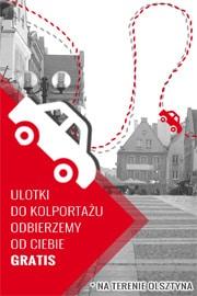 Odbiór ulotek do kolportażu na terenie Olsztyna gratis